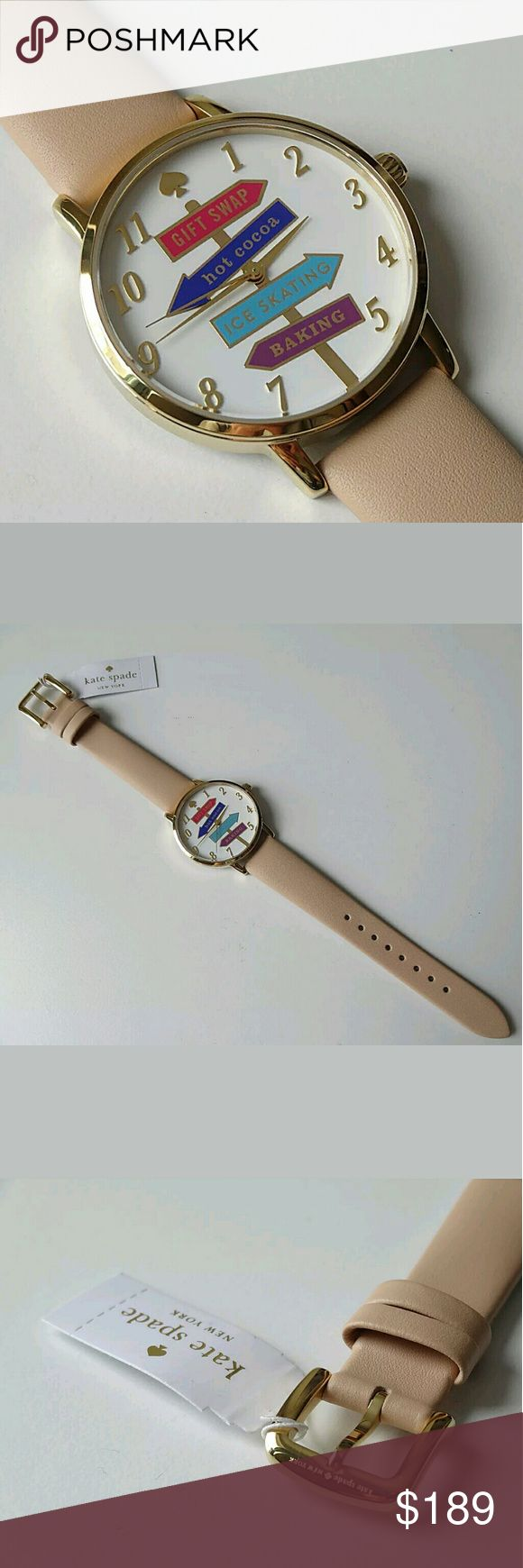 Brand new Kate Spade NY ladies watch Brand NWT Gorgeous Kate Spade Metro Ladies Watch  FIRM PRICE FIRM PRICE  $189.00 . AUTHENTIC WATCH  . AUTHENTIC BOX  . AUTHENTIC MANUAL    SHIPPING  PLEASE ALLOW 3-4 BUSINESS DAYS FOR ME TO SHIPPED IT OFF.I HAVE TO GET IT FROM MY STORE.   THANK YOU FOR YOUR UNDERSTANDING. kate spade  Accessories Watches