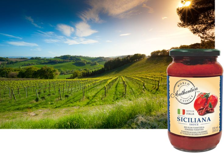 Siciliana is a gourmet Italian pasta sauce originally sourced from Sicily. Siciliana sauce has a strong, full flavour profile created by the key ingredient of naturally sundried tomatoes (not oven cooked), sweet and earthy from days in the Italian sun. #fromtheheartofitaly #worldcuisine #allnatural #glutenfree #vegetarianpastasauce #veganpastasauce