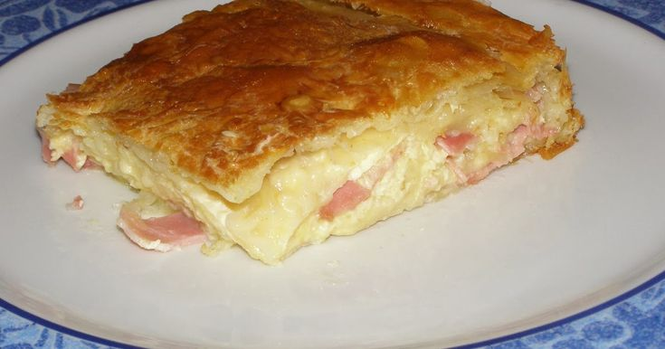 1 πακέτο (450γρ) φύλλο κρούστας  400γρ διάφορα τυριά τριμμένα  100γρ ζαμπόν ψιλοκομμένο ή τριμμένο  2 1/2φλ φρέσκο γάλα  4 αυγά  πιπέρι  ...