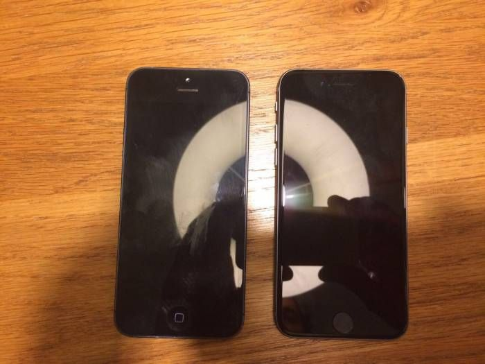 Purported iPhone 5se Picture Leaked Next to iPhone 5