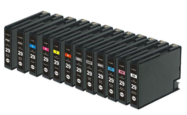 2015 New 1set 12pks PGI-29 Compatible Ink Cartridges  For Canon  Pixma Pro-1 #Nextpage
