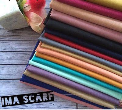 IMA SCARF bahan: katun ima teksture: berserat halus, sangat adem di pakai, mudah di atur tidak licin meskipun tanpa inner. ukuran: 180x75 pinggir: jahit dan rawis