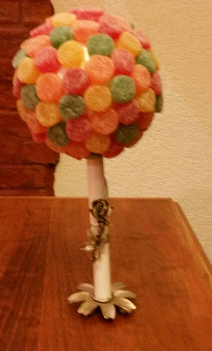 topiario, topiario con golosinas, topiario con gelatinas, ideas, colores, cumpleaños, mesa de dulces, candybar, candy bar