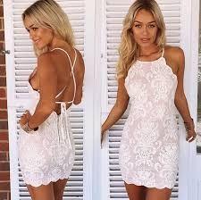 white spaghetti strap bodycon backless dress uk - Google Search