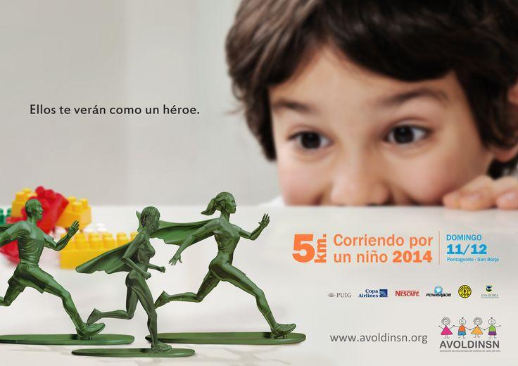 """Print """"Corriendo por un niño"""" (Karen Ramos, Giovanna Alvarado, Ana Paula Casaño)"""
