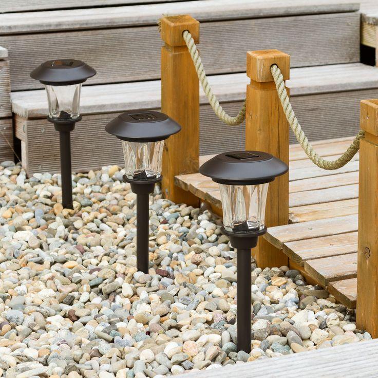 Lampioncini paletti da giardino per vialetti ad energia solare