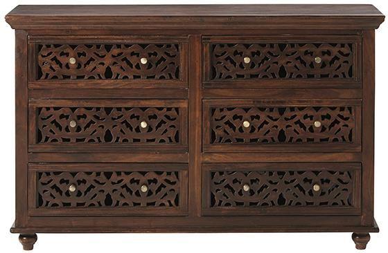 Maharaja Dresser - Dressers & Chests - Bedroom - Furniture | HomeDecorators.com :: Reminds me of the Balinese wood carvings.