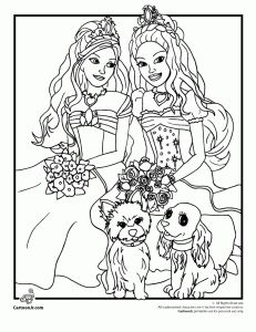 Barbie Diamond Castle Color Coloring Pages
