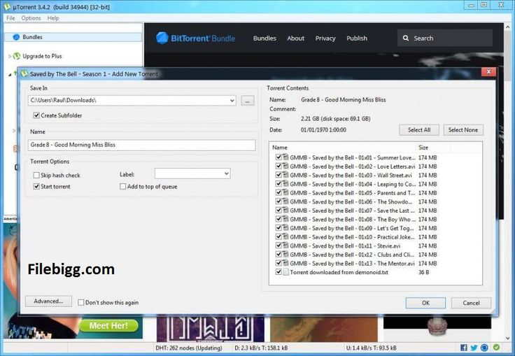 Free Download Software uTorrent 3.4.5 Build 41073 - filebigg.com