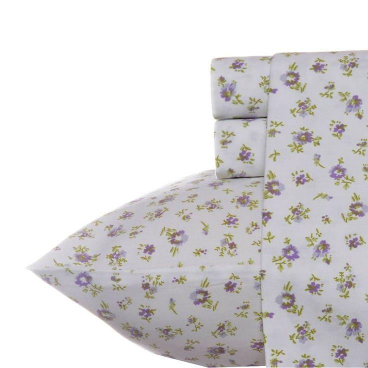 laura ashley petite fleur 300 thread count 100 cotton 4 piece queen sheet set
