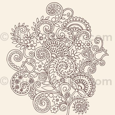 Henna Doodles Flower Vines Vector Tattoo Design  | blue67design via Flickr