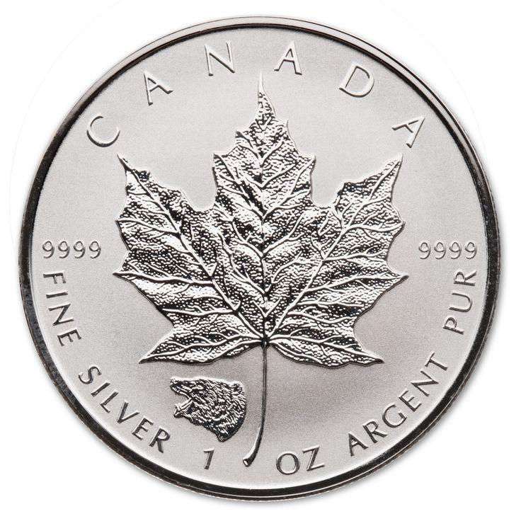2016 GRIZZLY 1 oz Privy Silver Maple Leaf