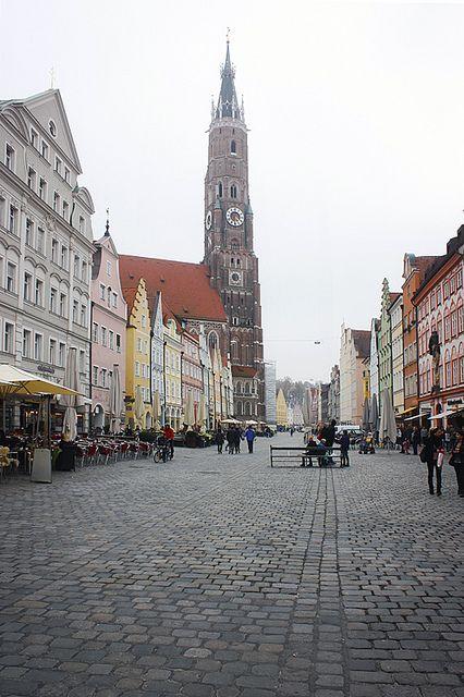 Main street in Landshut , Germany