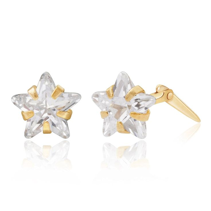 Sterling silver 6mm white glitterball crystal Andralok stud earrings / Gift box 0F0nlIf6pq