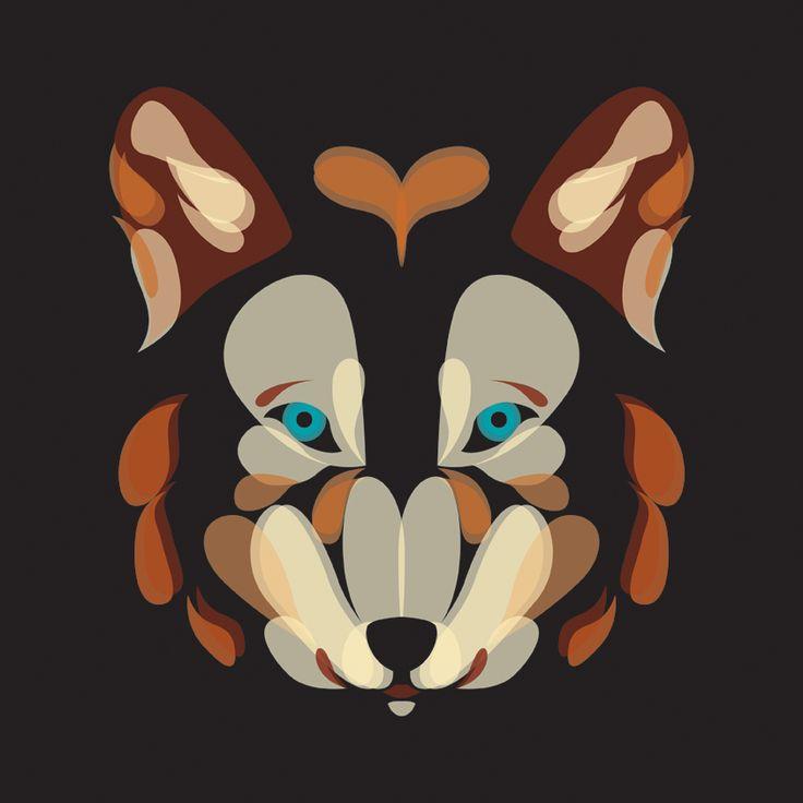 Fluid Animals: Wolf || Ben the Illustrator || http://bentheillustrator.prosite.com