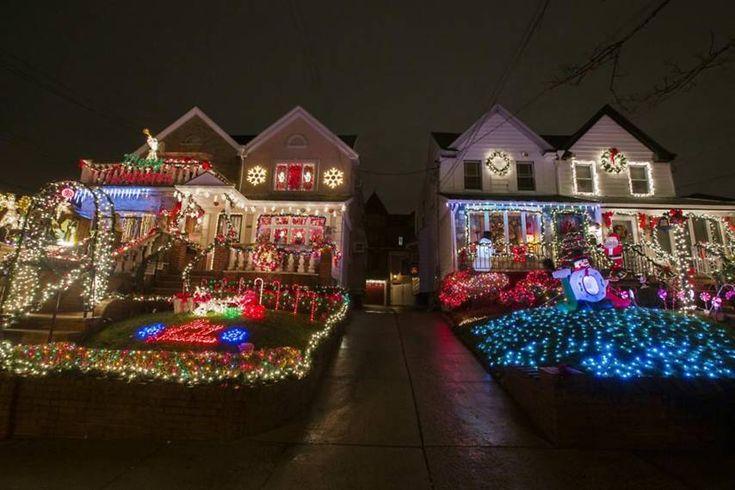 casas decoradas para navidad en brooklyn fachadas