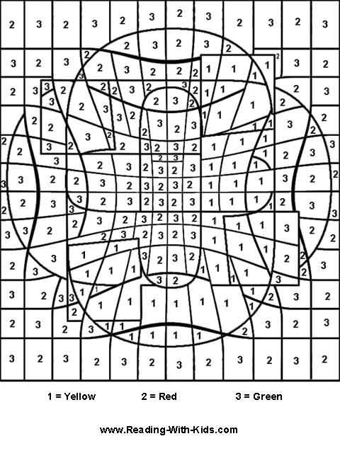 color by number coloring pages really cool one for each letter of alphabet - Coloring Pages Cool