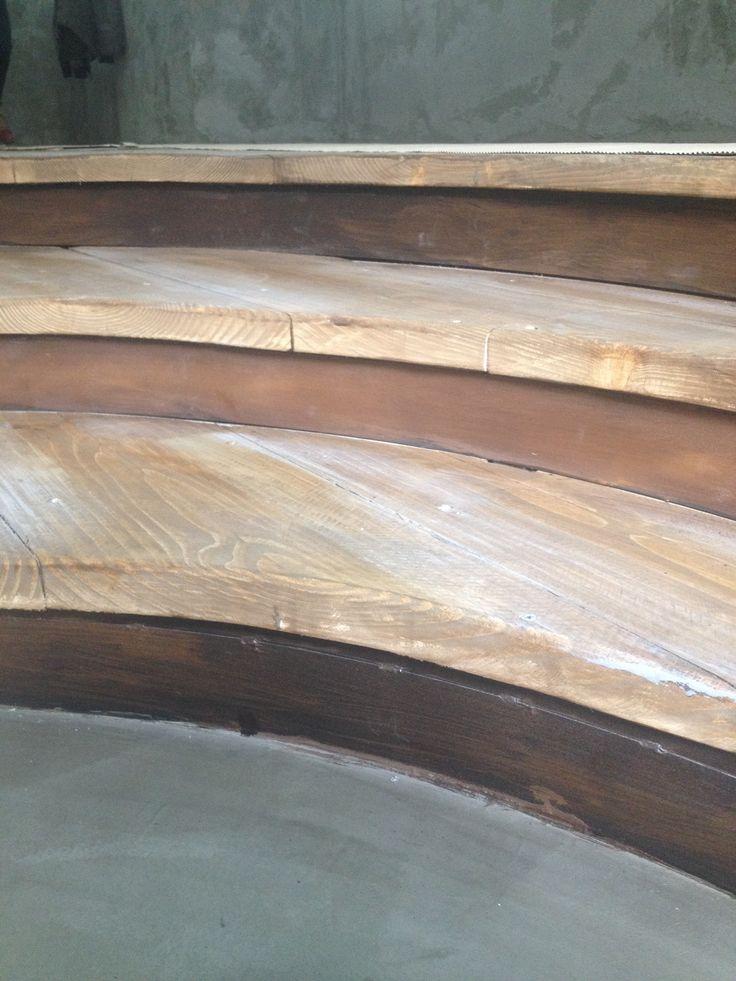 Old wooden stairs Technique- Concrete Technique- Rusty Iron Technique