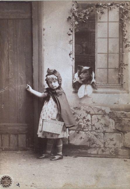 vintage postcard... Little Red Riding Hood