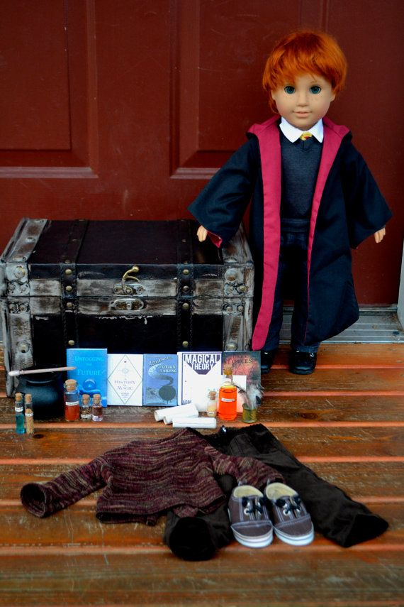 AMERICAN GIRL DOLL RON WEASLEY! Ive made a few custom American Girl dolls based on the Harry Potter books/movies. Each doll comes with a