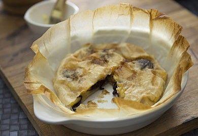 Pastilla de pommes caramélisées et boudin noir
