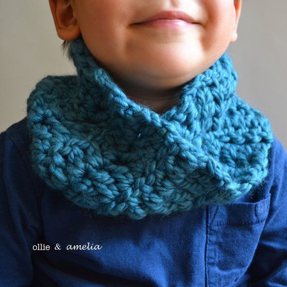 This soft unisex twisted toddler cowl is the perfect addition to any toddlers wardrobe for brisk fall days.