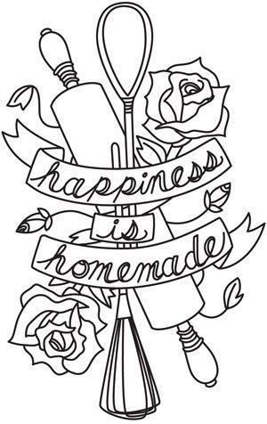 Happiness Is Homemade design (UTH4266) from UrbanThreads.com | https://lomejordelaweb.es/