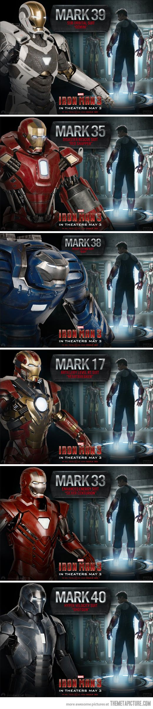 Iron Man 3, all suits unlocked... - The Meta Picture