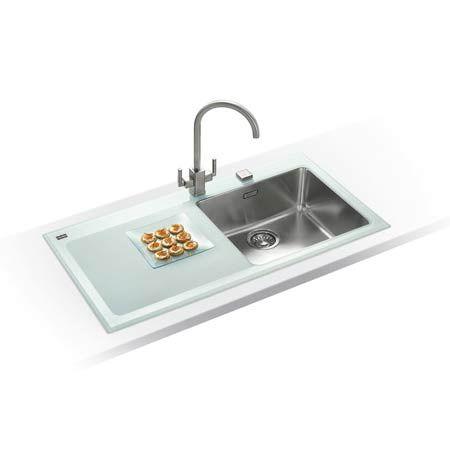 franke kubus kbv 611 1000mm glass sink - Glass Sink Kitchen