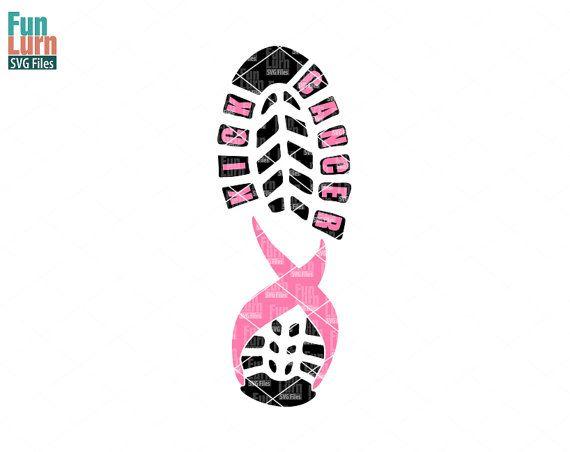 Kick Cancer, Football SVG, Breast Cancer Awareness SVG,Cancer Football, Word art,heart,Ribbon, Pink, Survivor,Fighter svg png dxf eps