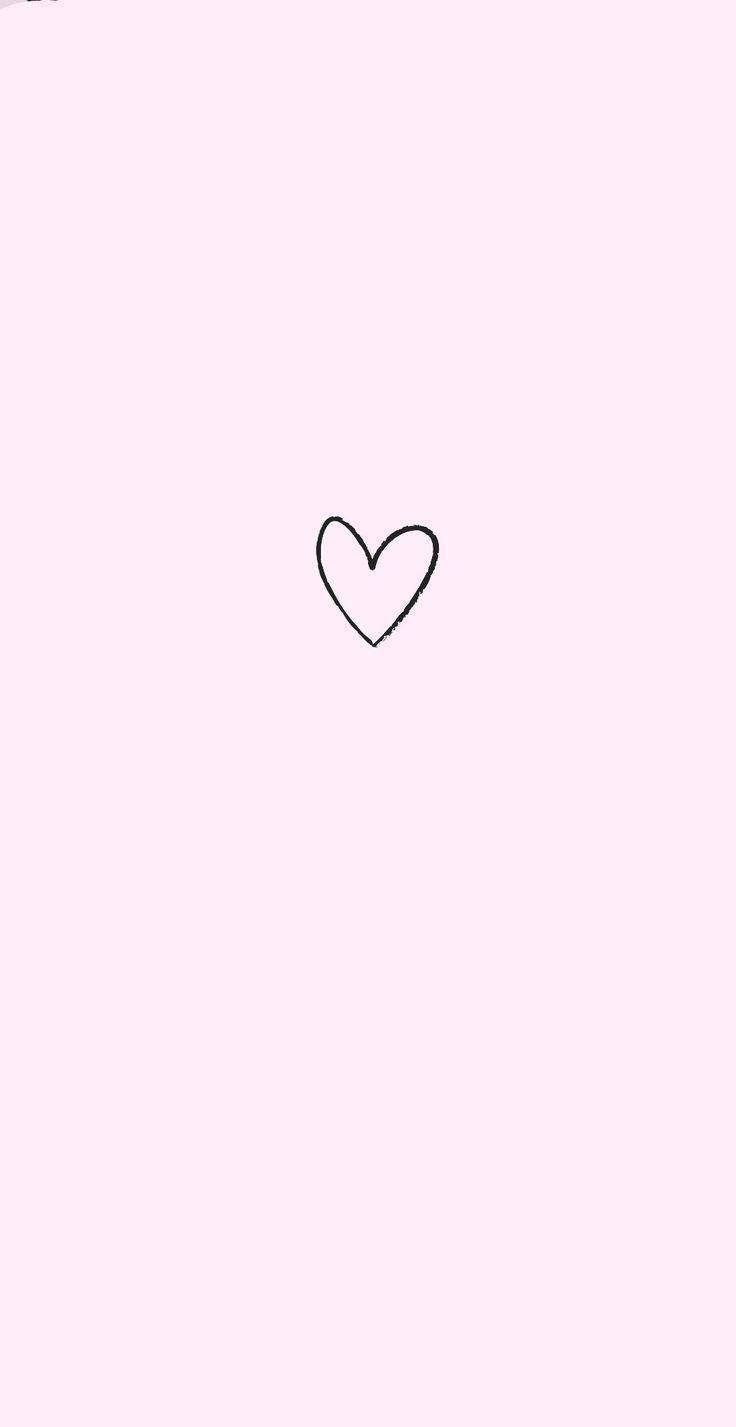 Pink Love Heart Cute Simple Wallpapers Simple Wallpapers Wallpaper Iphone Cute