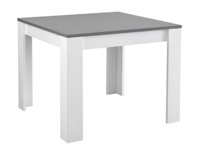 Table De Repas Modena Laquee Blanc Grise Table Salle A Manger Table Repas Table De Repas Carree