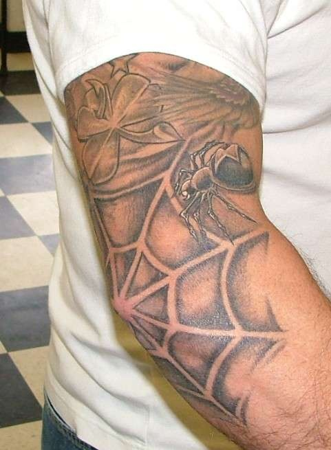 What Does Spider Web On The Elbow Mean