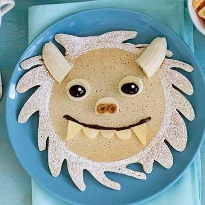 Cookie monster pancake recipe