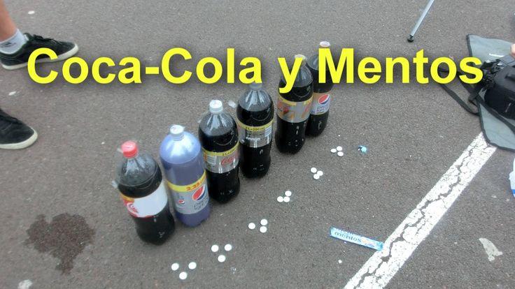 """🚀Coca-Cola y Mentos """"Cohete casero"""""""