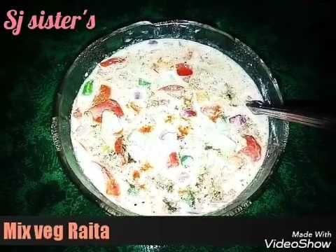 vegetable raita recipe, how to make veggie raita | mix vg raita recipe  /In Hindi - YouTube