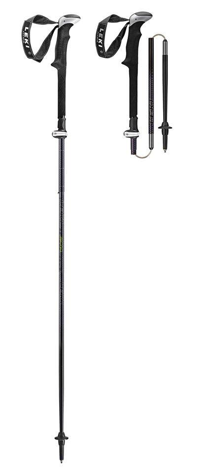 Leki Micro Stick Vario Ti. Længde: 110-130 cm. Sammenpakket: 38 cm. Vægt: 548g pr. par.  Kr. 1.099,-