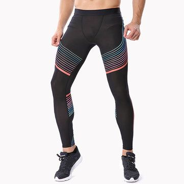 Gym Sports Athletic Leggings Fitness Pants Mens Yoga Jogging Stretchy Tight Hips Trousers at Banggood