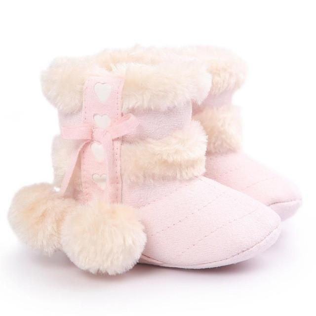 Toddler Girls Boots Soft Sole Snow Boots