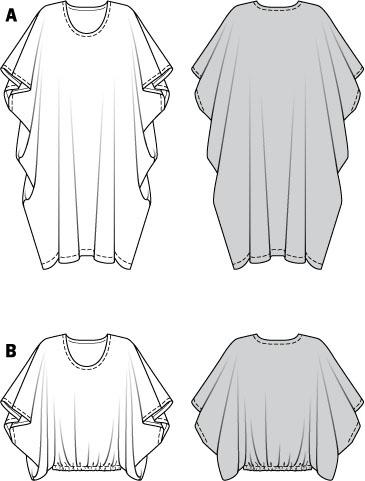 Simplicity Creative Group - Burda Style, Caftan & Tunic