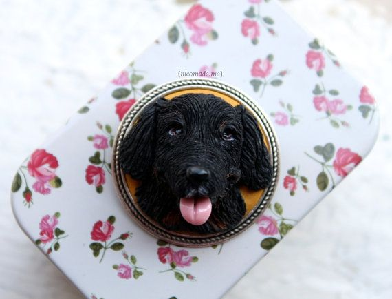 Custom dog portrait brooch dog jewelry dog brooch by NicomadeMe