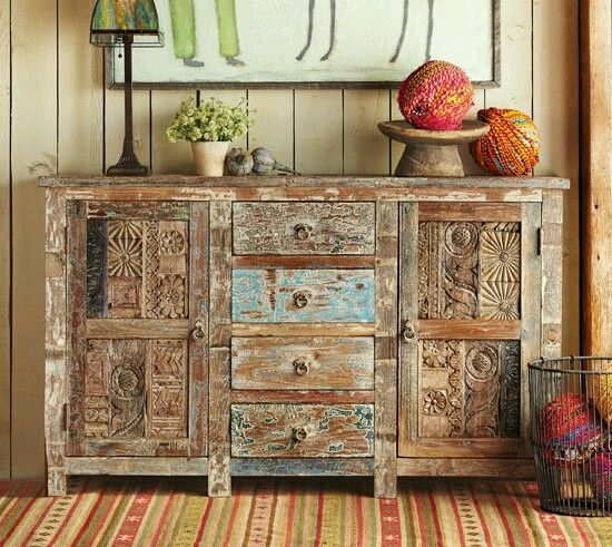 Painted Wood Furniture And Cabinets: 63 Best Mexican Painted Furniture Images On Pinterest