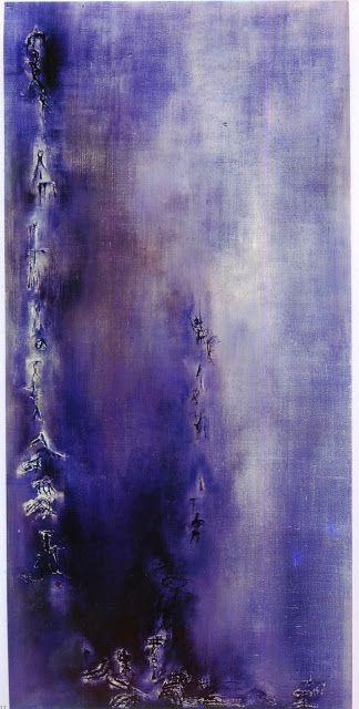 Un Artiste, Un Jour: Les bleus de Zao Wou-Ki mistral 1957huile sur toile 130 x 195 cm