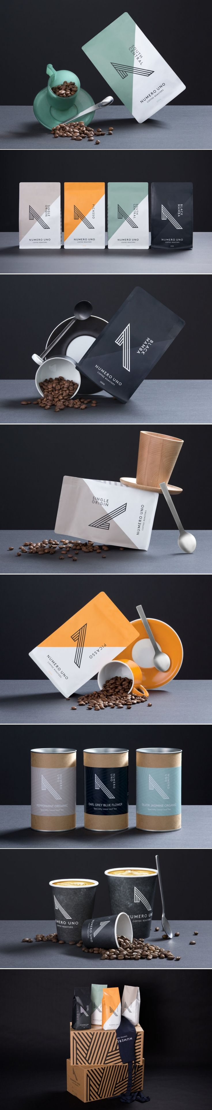 Numero Uno is a Striking Coffee Brand — The Dieline | Packaging & Branding Design & Innovation News
