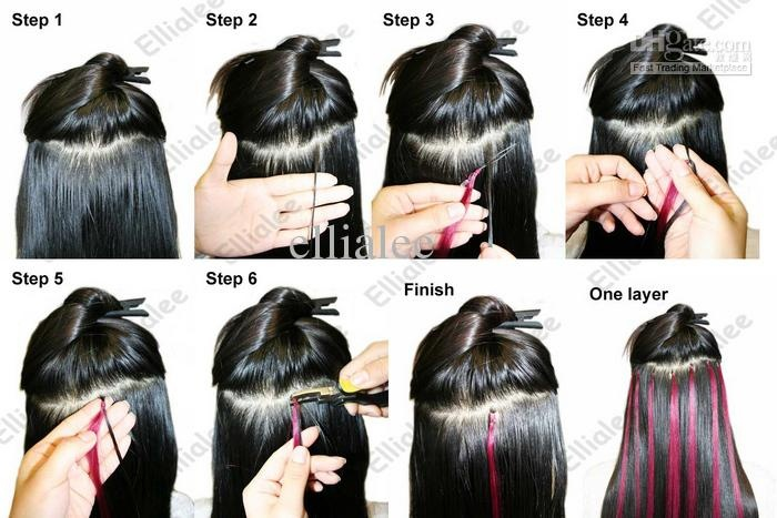 Micro Bead Hair Extensions Picture Tutorial
