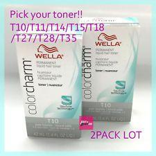 2PACK x WELLA COLOR CHARM PERMANENT HAIR TONER 1.4OZ (CHOICE COLOR)