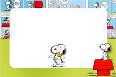 Lindo kit completo digital com vários convites, molduras, moldes e lembrancinhas gratuitas para uma festa com o tema Snoopy