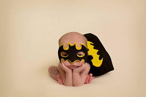 Super Hero Costumes for Newborn Boy - Photography Prop - Halloween - Batman -- Twins - Custom Sizes