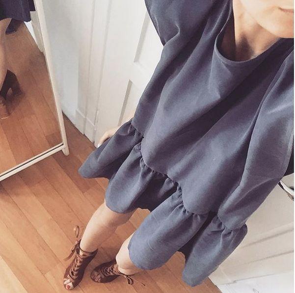 OPEN BACK OVERSIZE GREEN DRESS | In stock | Blue summer dress, fully open back tied on the neck! All summer essentials @ theodderside.com