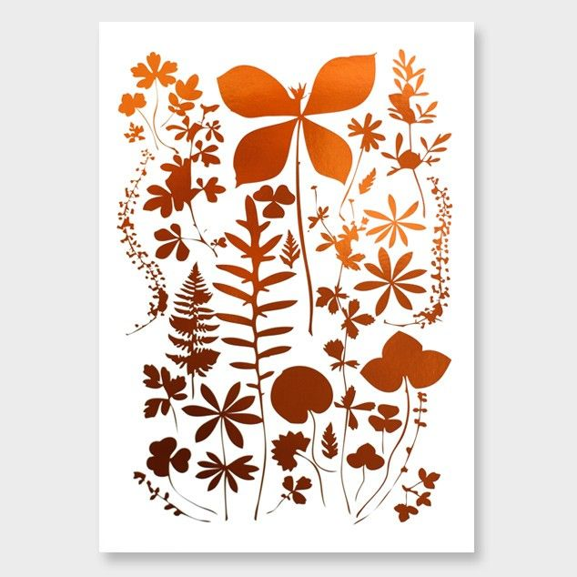 Wild Florals Copper Foil Art Print by Cloud 9 Creative See here: http://www.endemicworld.com/metallic-prints.html